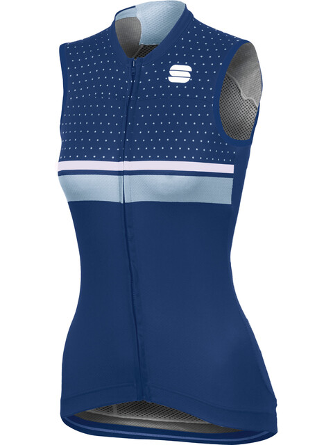 Sportful Diva Sleeveless Jersey Women blue twilight/white/cerulean